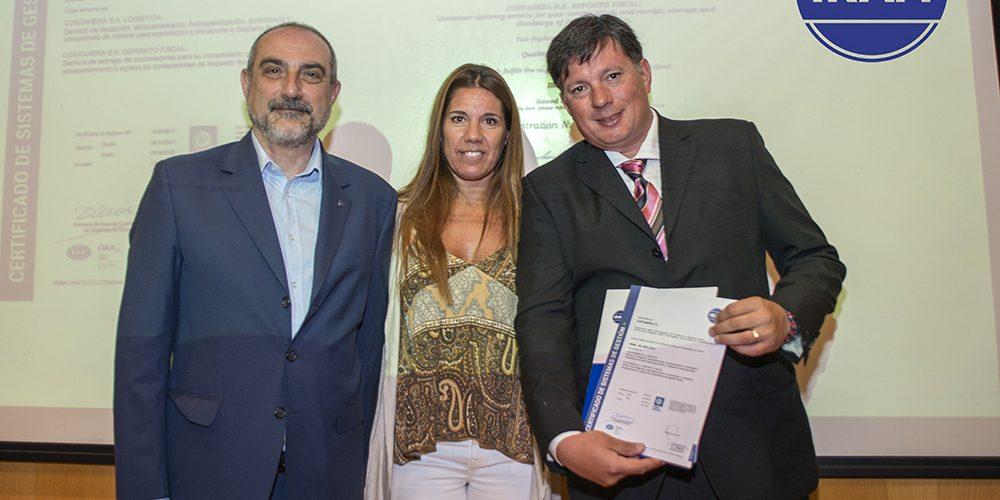 Costanera SA recibio su certificado de Calidad ISO:9001
